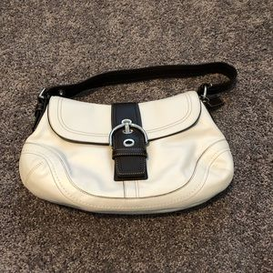 Coach Leather White Bag